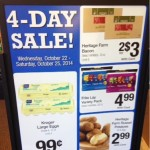 Kroger 4 day sale! Eggs .99 and Bacon $1.50!