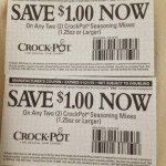 Crock Pot Seasoning Mix deal at Kroger!