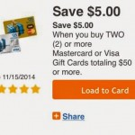Save $5 on giftcards at Kroger E coupon!