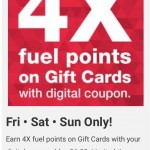 4X Fuel Points on Gift Cards