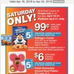 Kroger Saturday Download 4/21!