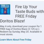 Kroger Friday Free Doritos Blaze 5/4!