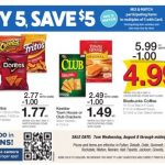 Kroger AD Scan  8/8 thru 8/14! Buy 5 Save $5!