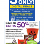 Kroger 3 Day Deals Yeah! 10/18 thru 10/20! 50% off Halloween Candy!!!